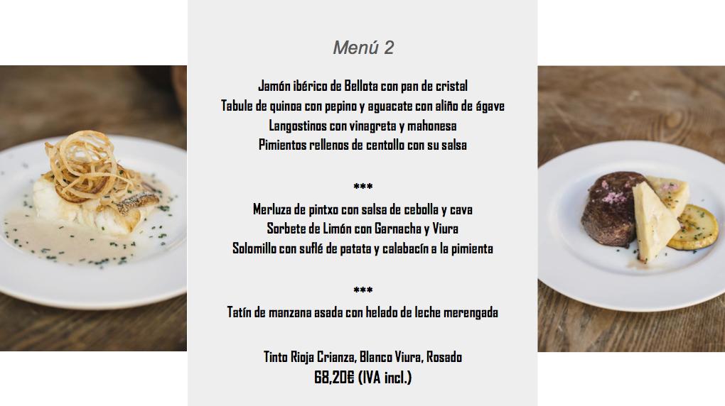 menu convento